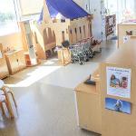 playhouse and bookshelf