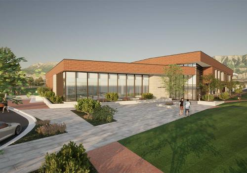 Rendering of Young Living Aumni Center