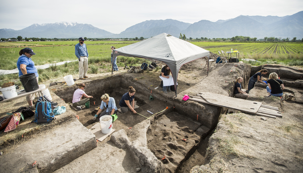 UVU and BYU archaeology students are spending several weeks this summer excavating one of the last undisturbed Fremont habitation sites in Utah Valley in a first-ever UVU/BYU combined field school course.