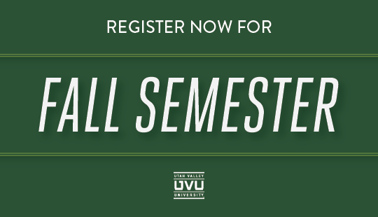 Fall classes fill quickly -- don't wait. Priority registration is underway.