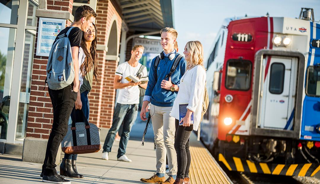 Beginning August 2018 and continuing for the next 10 years, all UVU full-and part-time employees as well as their spouses and dependents, and students will receive free UTA transit passes annually.