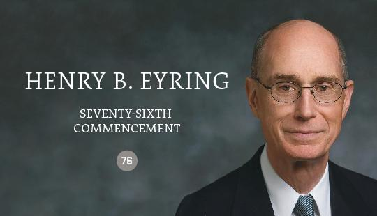 The Utah Valley University Board of Trustees announced today that educator and religious leader Henry B. Eyring will be the keynote speaker during the university's 2017 commencement exercises.