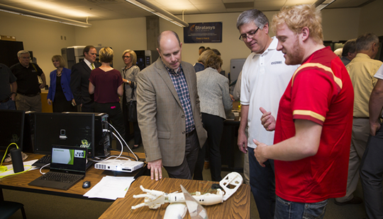 As part of its commitment to training the next generation of 3D application engineers, Utah Valley University opened its new 3D prototyping lab on Oct. 2.