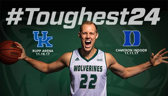 "Watch ESPN's coverage of the UVU men's basketball team's ""toughest 24 hours in college basketball history"" with games at Kentucky and Duke."