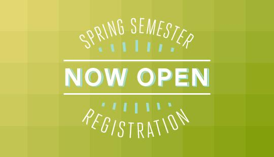 Don't wait to register for Spring Semester at UVU.