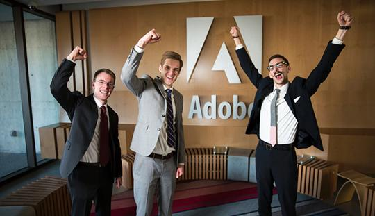 A team of UVU students won second place at the final round of the Adobe Digital Analytics Competition.