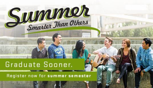 Why wait for fall? Great scholarships, small class sizes, and free parking make summer semester a smart decision. Classes start May 9.