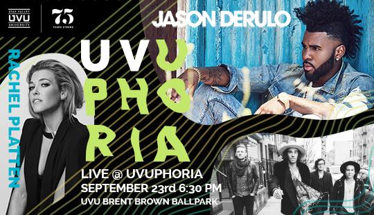 As part of its 75th anniversary celebration, Utah Valley University will host UVUPhoria, a concert featuring a triple play of entertainment.