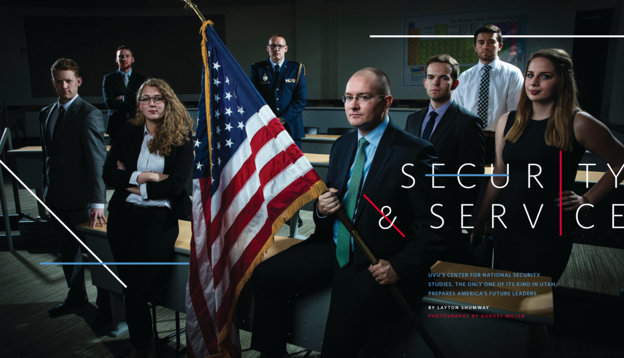 UVU's Center for National Security Studies is preparing America's future leaders. Read more in the latest issue of UVU Magazine.