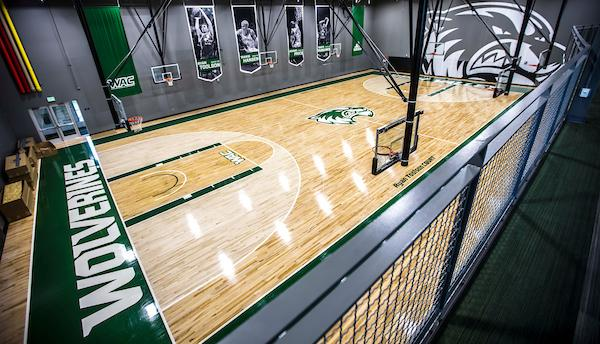 Utah Valley University cut the ribbon on the NUVI Basketball Center, a new practice and conditioning facility to house its men's and women's basketball teams, on Wednesday, September 13.