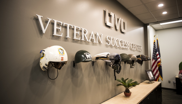 The Veteran Success Center supports the veteran population at UVU and their dependents by providing mental health resources, certifying education credits and facilitating educational opportunities tailored towards veterans.
