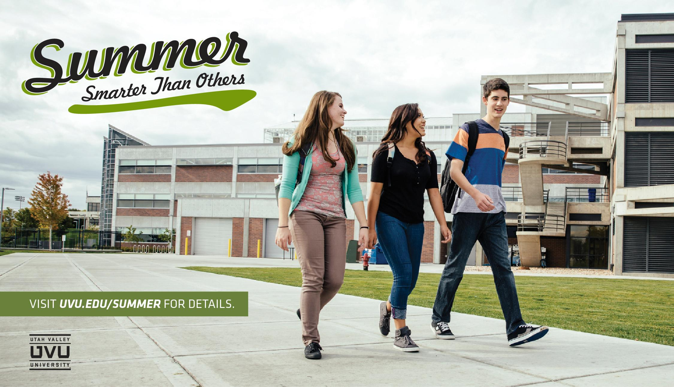 Earn your degree sooner, get into the workforce, and jump-start your career with summer classes at UVU.