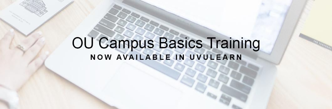 OU Campus Basics training is now available in UVULearn.