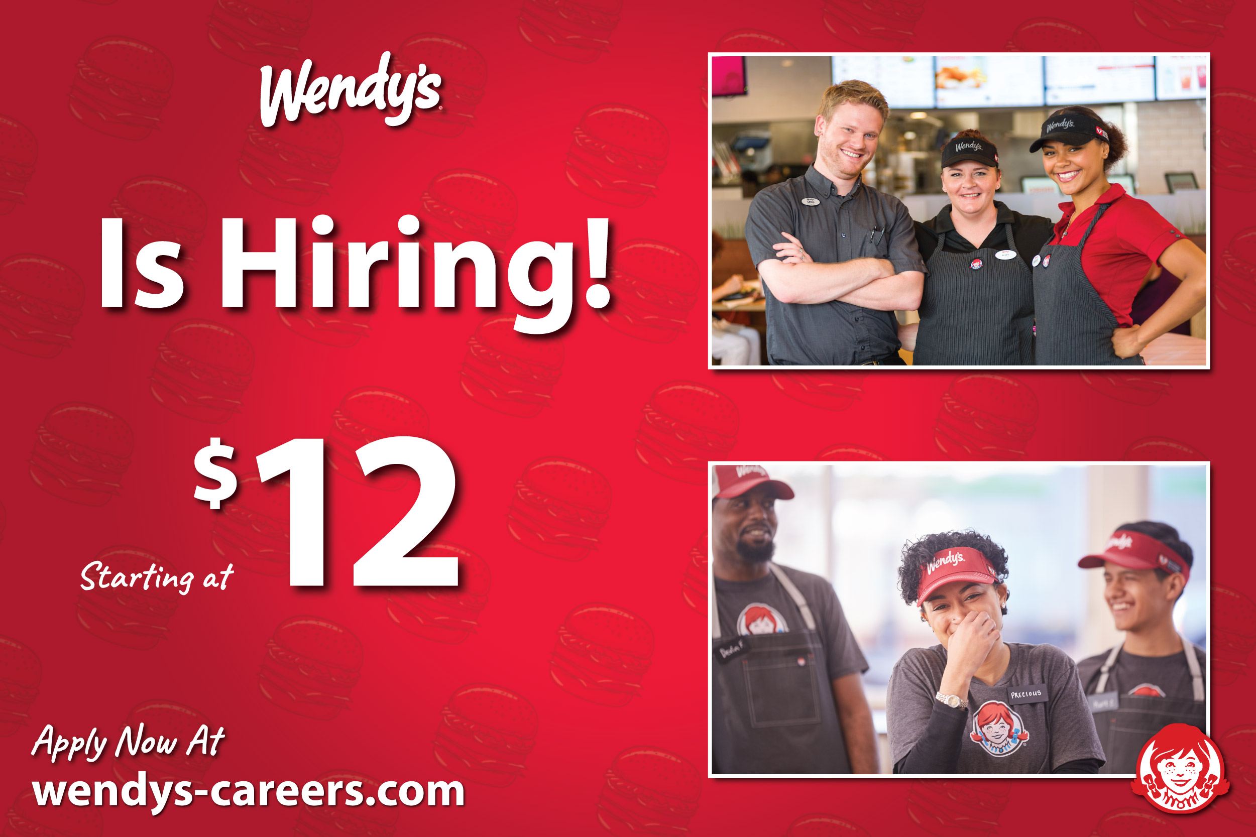 Wendy's is hiring ad