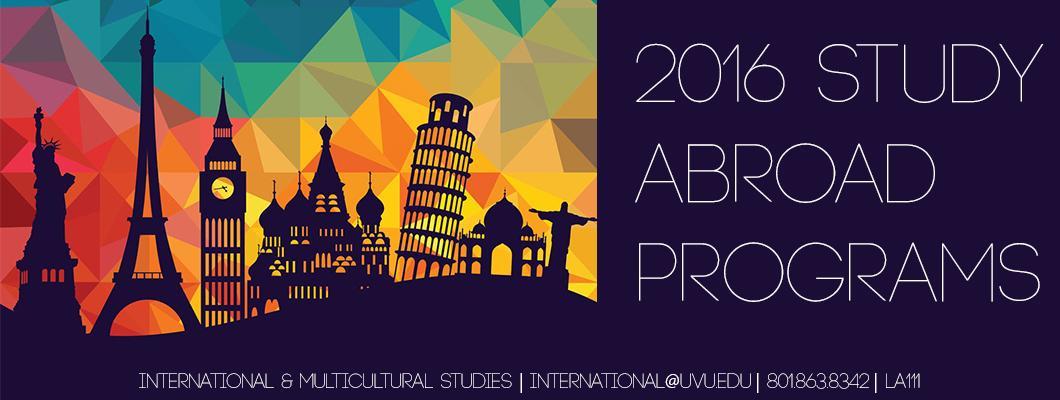 2016 Study Abroad Programs