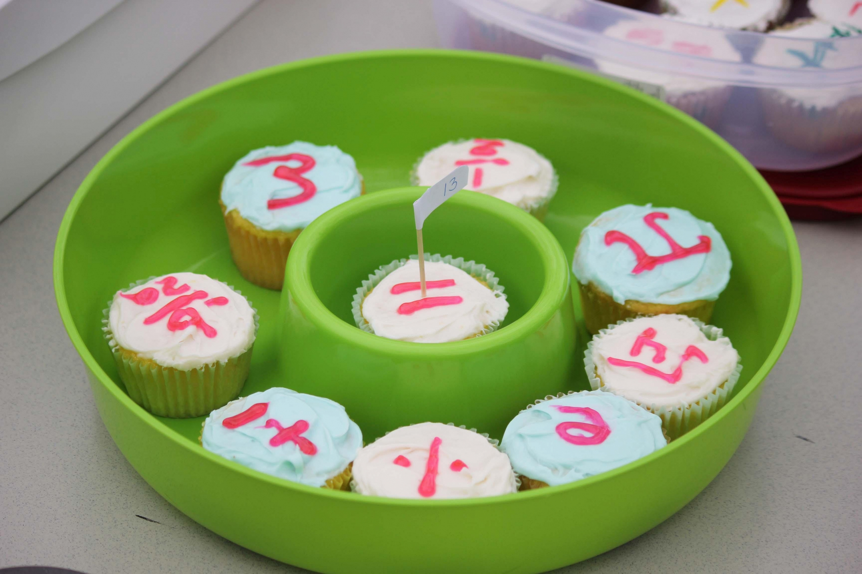 Picture of cupcakes submitted to the baking contest.  The baking contest was part of Math Week 2014.