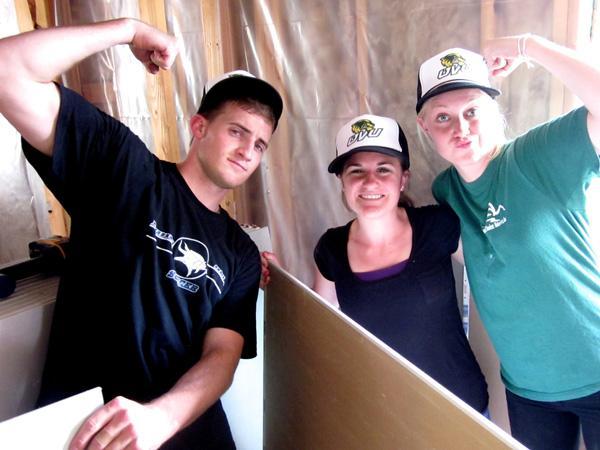 Working together on wallboard