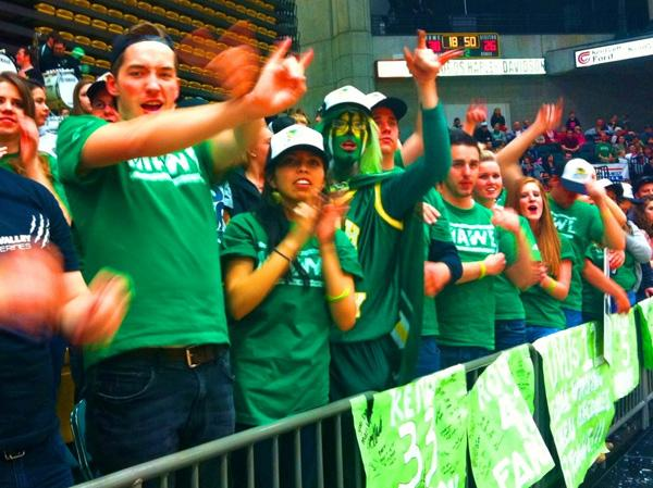 Rally at a UVU game