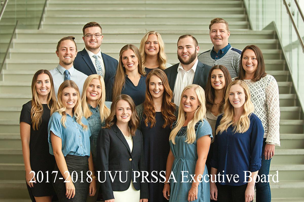 UVU PRSSA 2017-2018 Executive Board