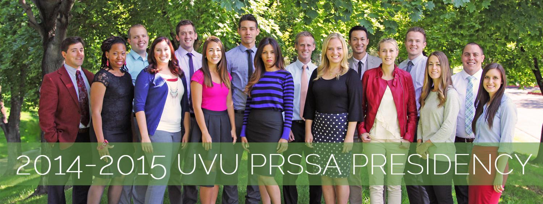 2014-2015 UVU PRSSA Presidency