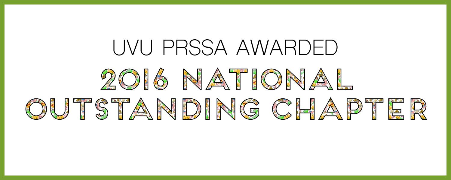 2016 Outstanding PRSSA Chapter
