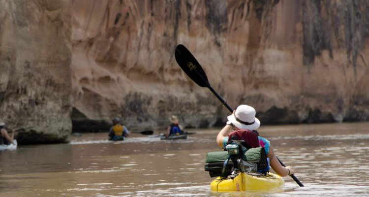 Canoeing down the Colorado River