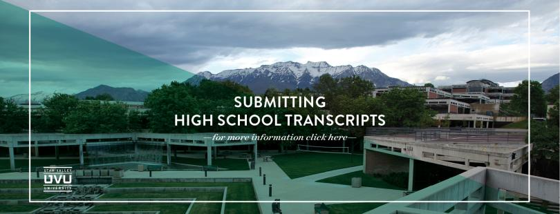Submitting High School Transcripts