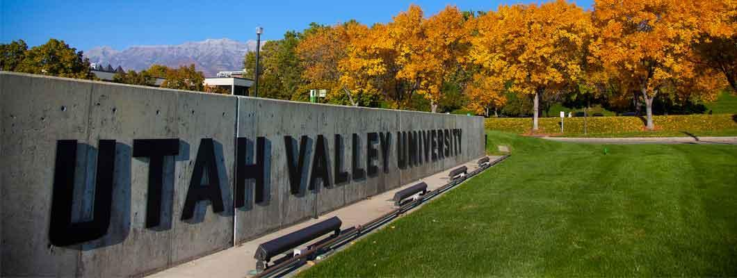 Utah Valley University Sign