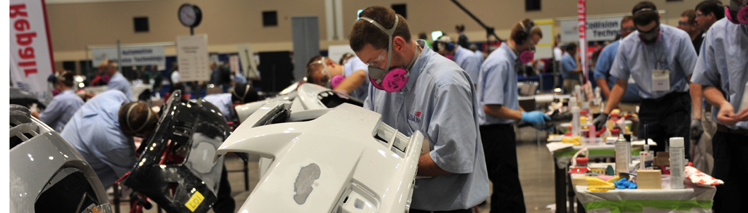 Automotive Technology competition on refinishing a car