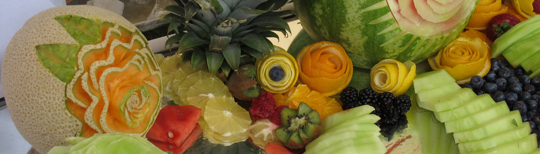 Display of fruits.