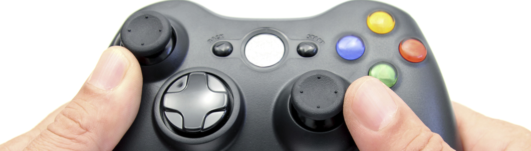 Close up of gaming controller