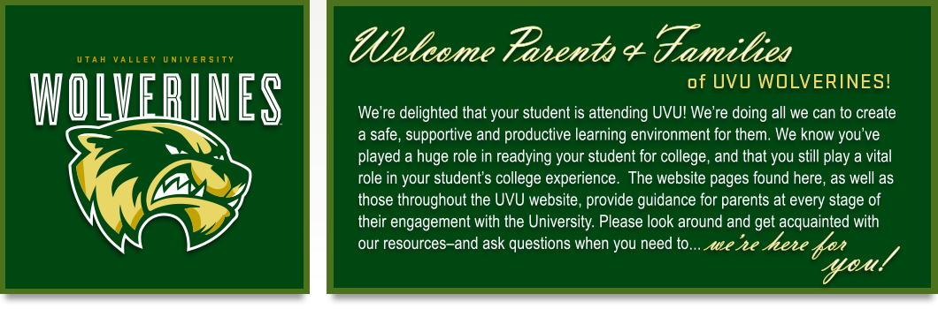 Welcome Parents and Families
