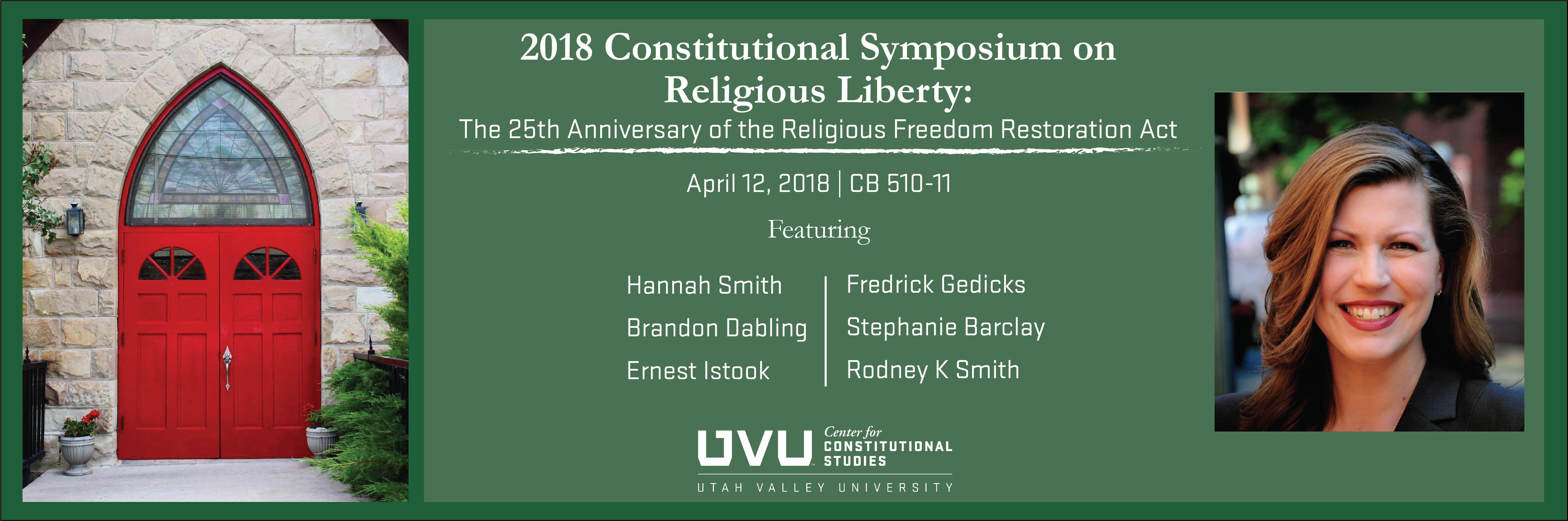 2018 Constitutional Symposium on Religious Liberty