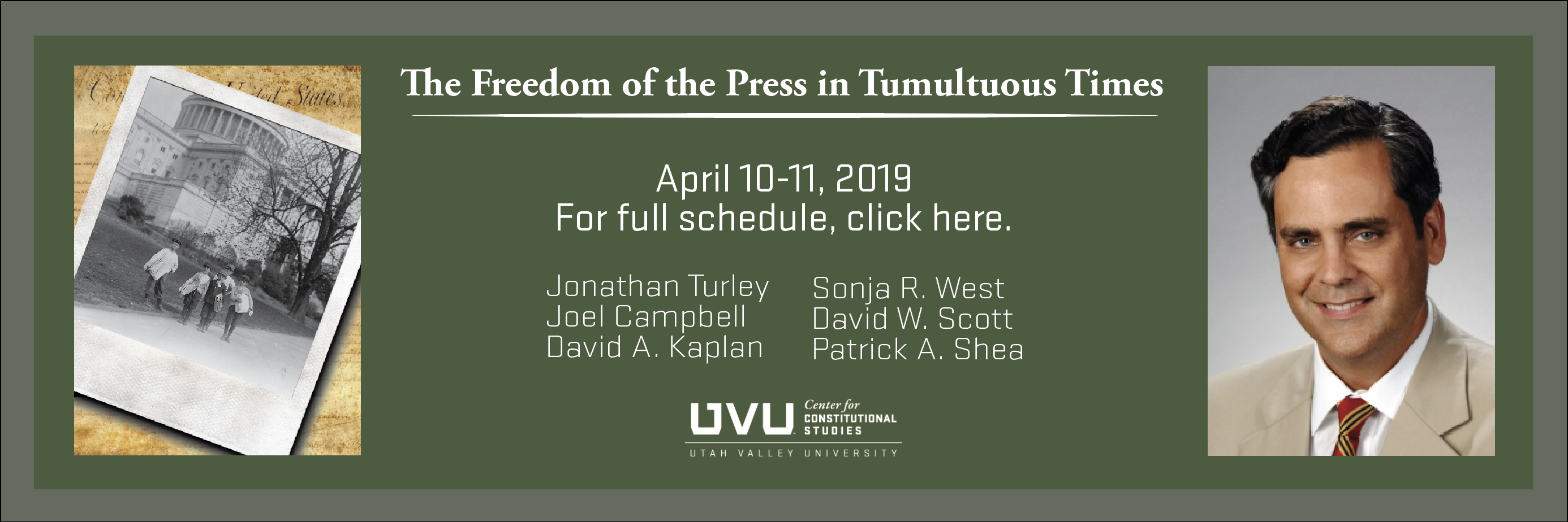 The Freedom of the Press in Tumultuous Times
