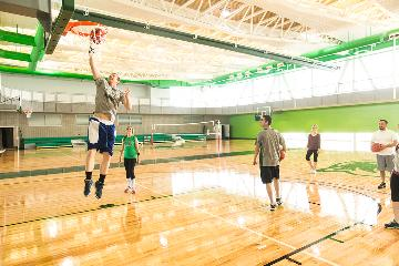 Student Life and Wellness Center basketball courts