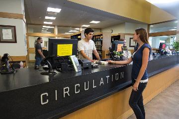 UVU Library - circulation desk