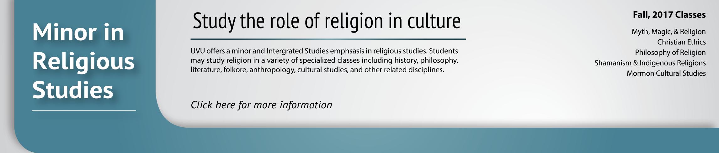 Religious Studies Minor
