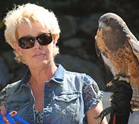 Lady with bird.