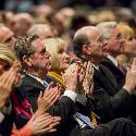 Audience watching keynote speaker