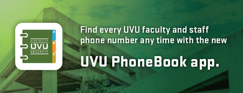 UVU Phone Book app.