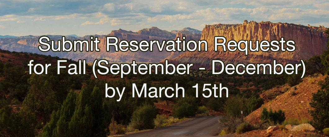 Reservation Requests Due