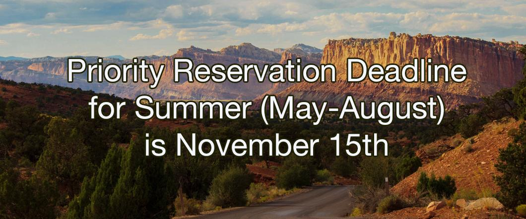 Summer Reservation Deadline