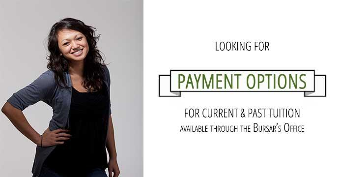 Looking for payment options for current and past tuition?