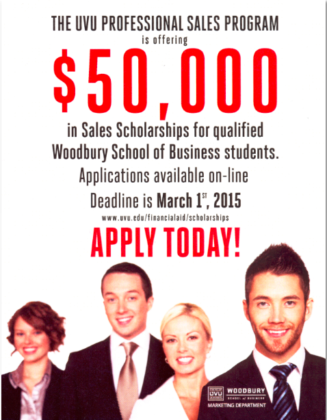 Sales Scholarships for qualified students