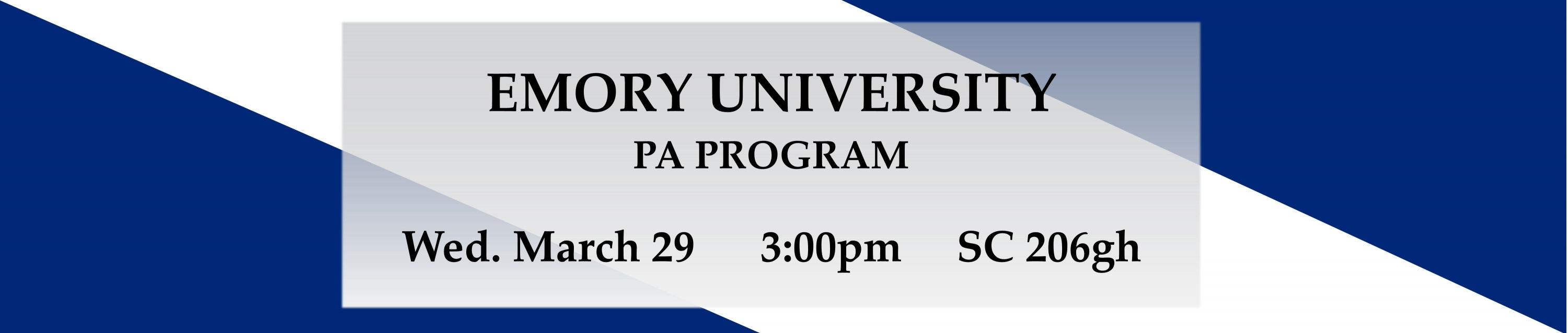 Emory PA March 29