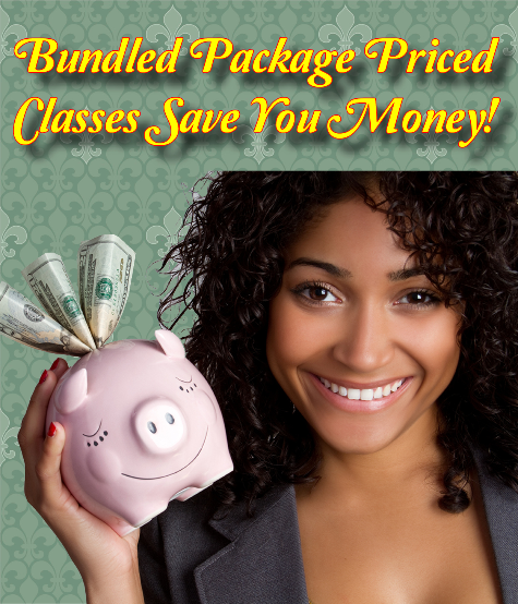 Bundled package priced classes save you money!