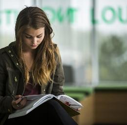 UVU Student Studing