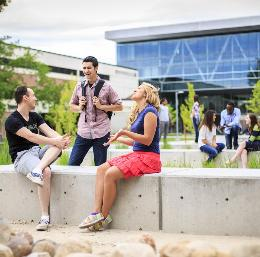 UVU Students enjoying campus