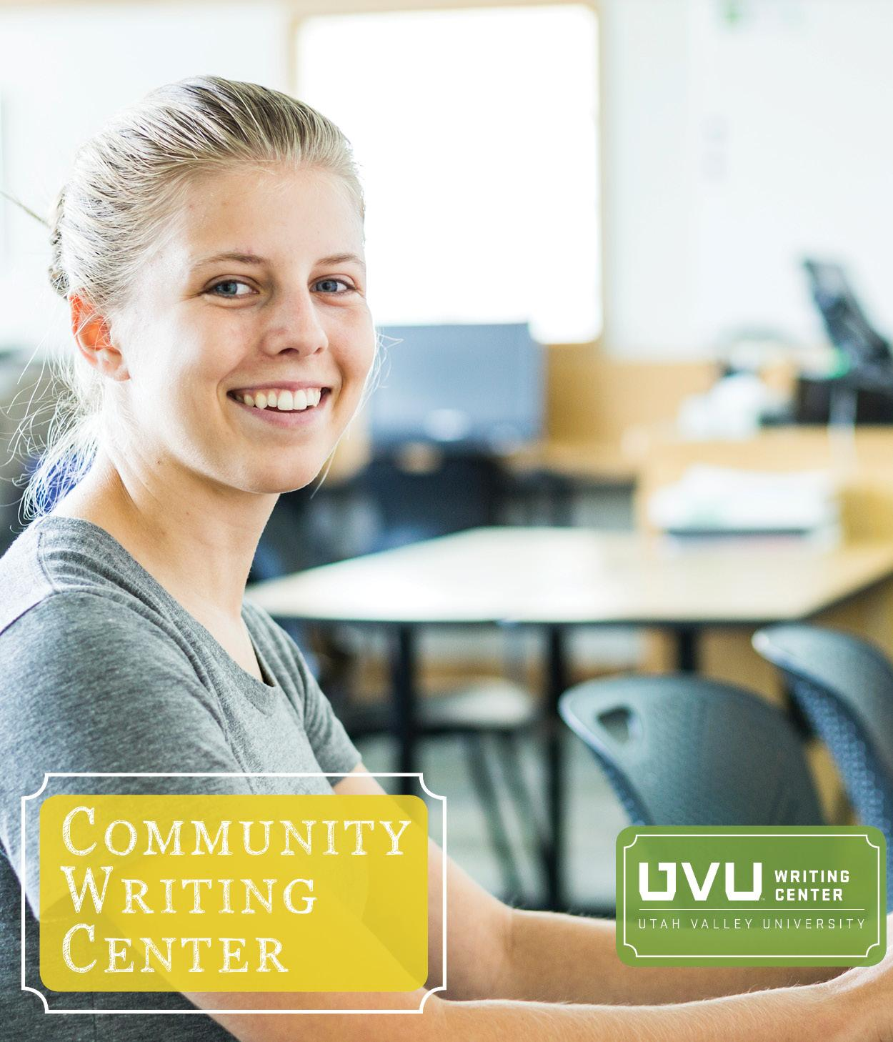 Image of student using a writing center computerLink to Community Writing Center page