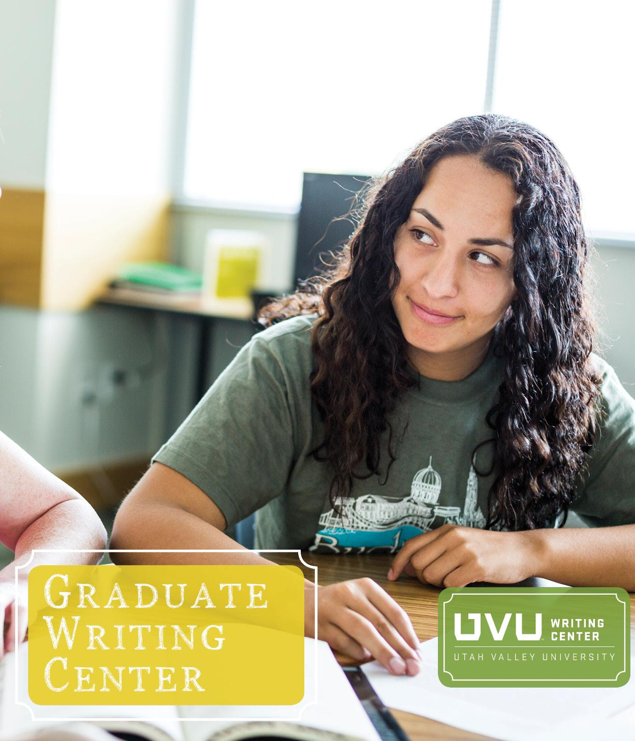 Image of student being tutoredLink to Graduate Writing Center page